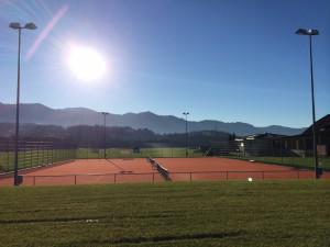 Neue Tennisanlage in Kaltbrunn (Archiv Tennisclub)